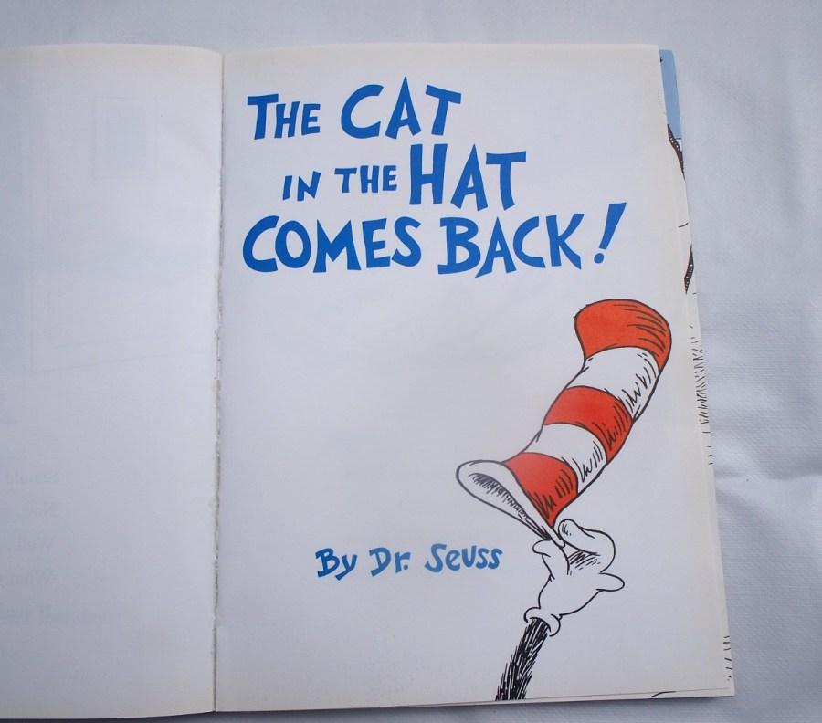 Portada del libro the cat in the hat