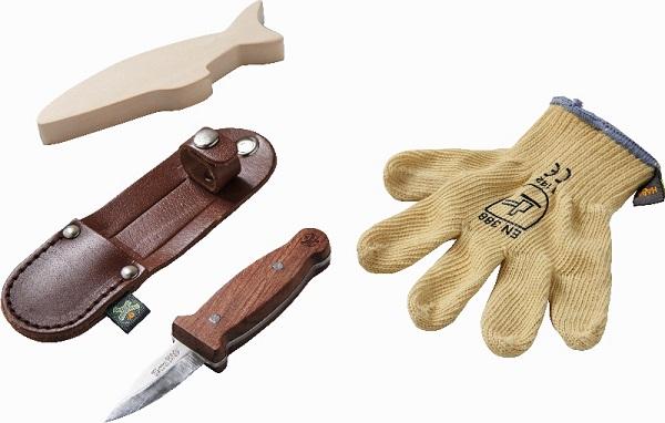 Navaja de tallar con guante de seguridad para niños