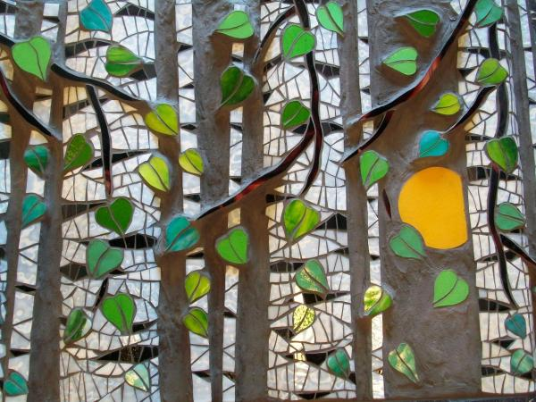 Stained Glass Mosaic Tree