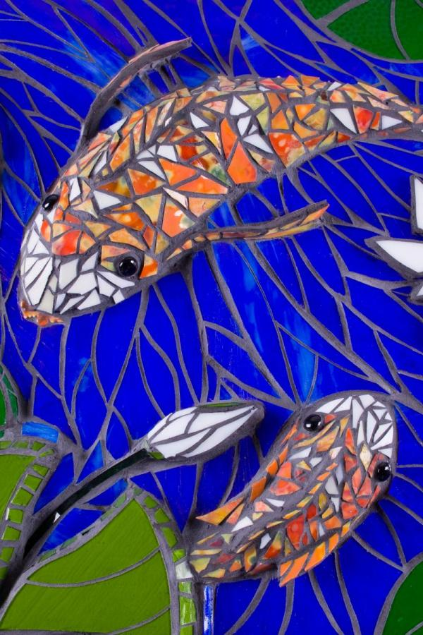 Glass Mosaic Koi