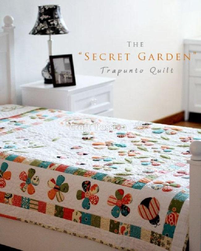 Secret Garden Trapunto Quilt