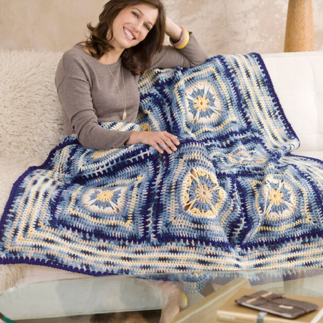 Crochet Artisan Throw pattern