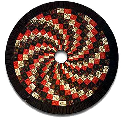 Spiral Quilt Christmas Tree Skirt 1