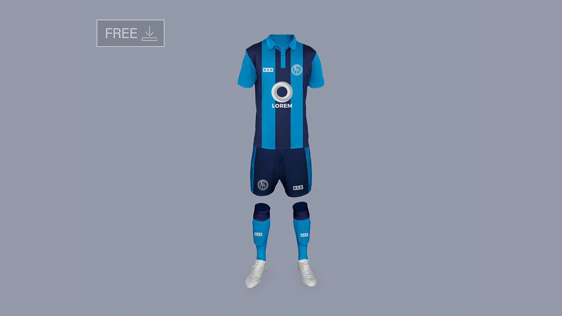 Download mockup camiseta raglan psd. Mockup De Uniforme De Futebol Gratis Criativo Design