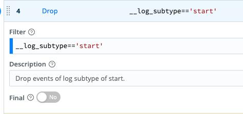 Drop log data palo alto