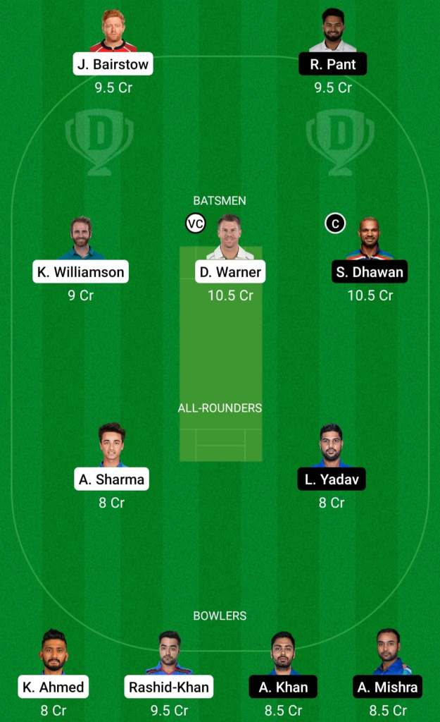 IPL 2021 Match 20: DC vs SRH Dream11 Prediction Possible Playing 11 Pitch Report | DC vs SRH Dream11 Prediction Today | Delhi Capitals vs Sun Risers Hyderabad | Key Players | Chennai Pitch Report