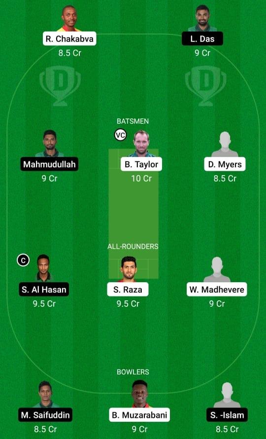 ZIM vs BAN 3rd ODI Dream11 Prediction Possible Playing 11 Pitch Report | ZIM vs BAN 3rd ODI Dream11 Prediction Today | Zimbabwe vs Bangladesh 3rd ODI Key Players | Harare Pitch Report