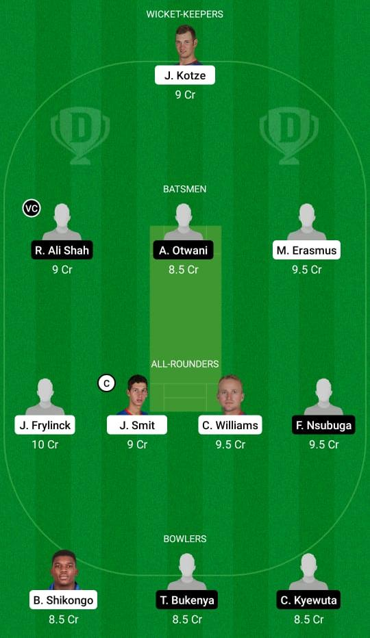 Namibia vs Uganda 1st ODI Dream11 Prediction Fantasy Cricket Tips Dream11 Team