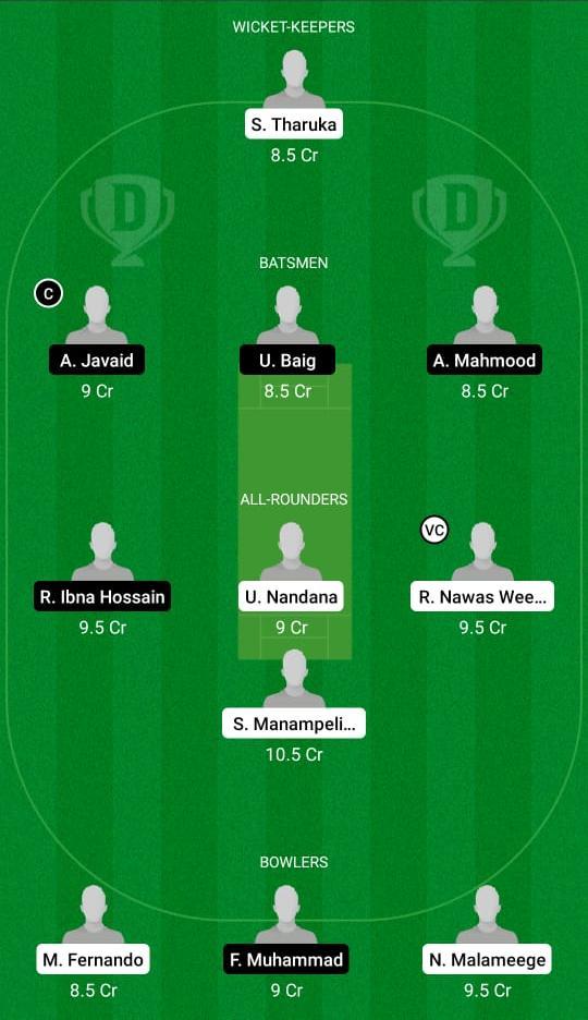 BOG vs BU Dream11 Prediction Fantasy Cricket Tips Dream11 Team ECS T10 Milan