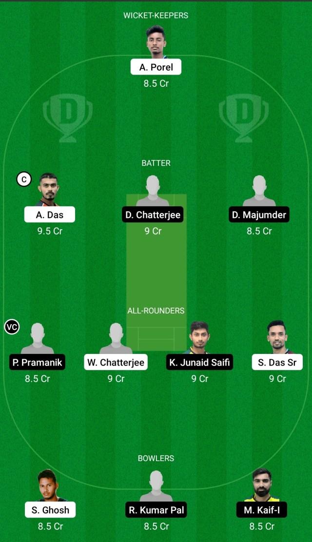 डीडी बनाम केबी ड्रीम11 प्रेडिक्शन फैंटेसी क्रिकेट टिप्स ड्रीम11 टीम बायजू का बंगाल टी20 चैलेंज