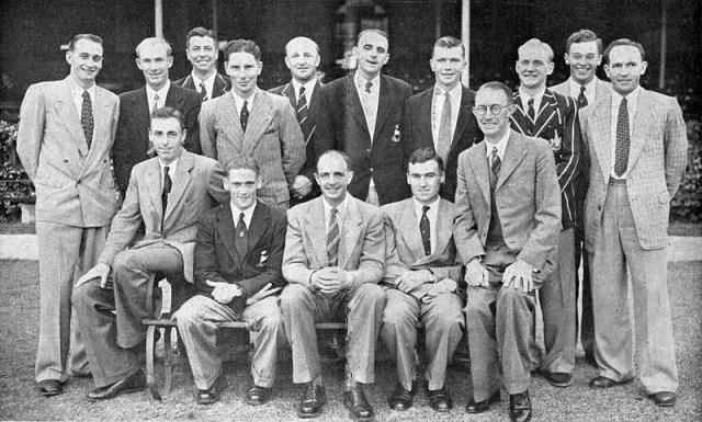 1952/53 में एएनजेड दौरे पर दक्षिण अफ्रीकी टीम के साथ जॉन वाटकिंस।  फोटो- ट्विटर