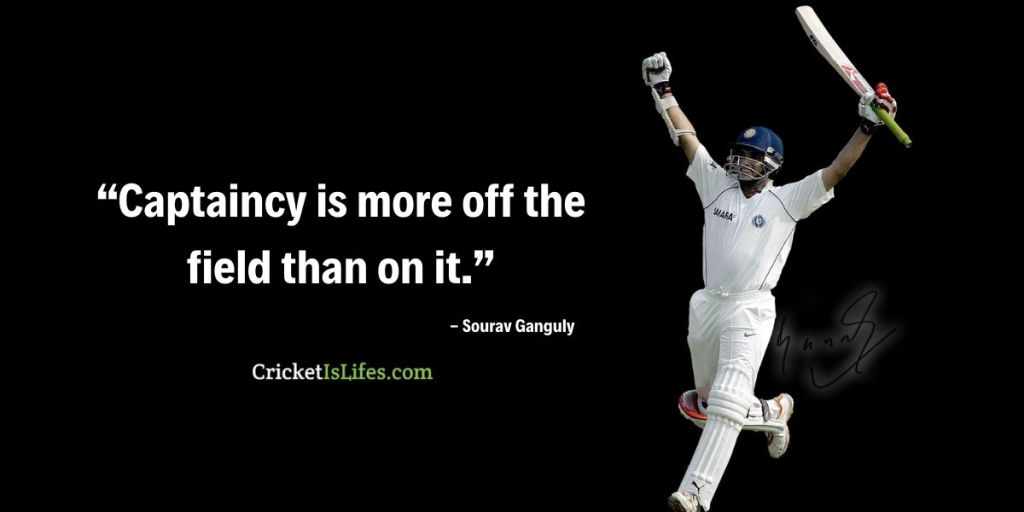 Captaincy is more off the field than on it.