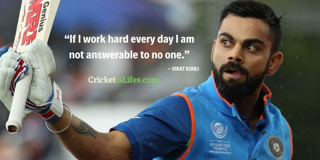 """""""If I work hard every day I am not answerable to no one."""""""