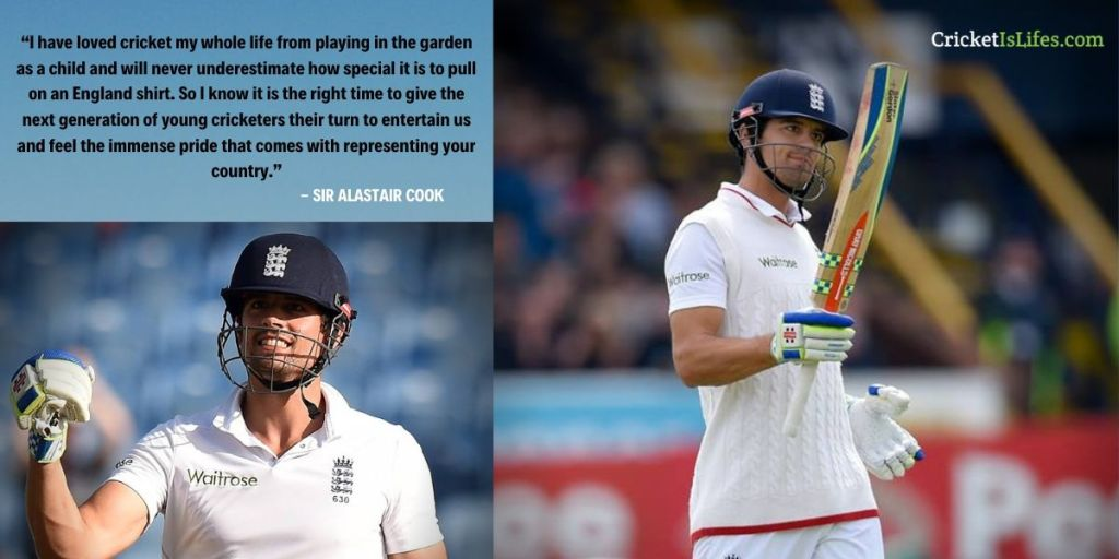 I have loved cricket my whole life from playing in the garden as a child and will never underestimate how special it is to pull on an England shirt. So I know it is the right time to give the next generation of young cricketers their turn to entertain us and feel the immense pride that comes with representing your country.