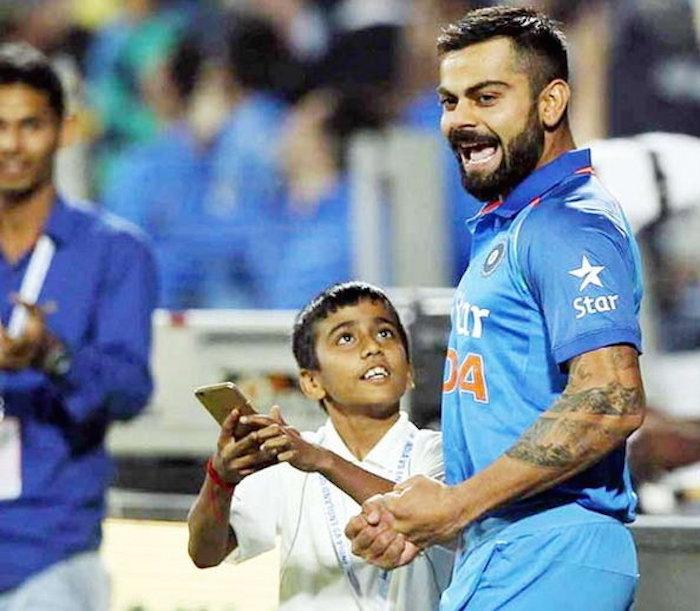 Virat Kohli little fan