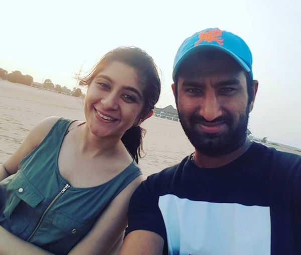 Puja and Cheteshwar Pujara