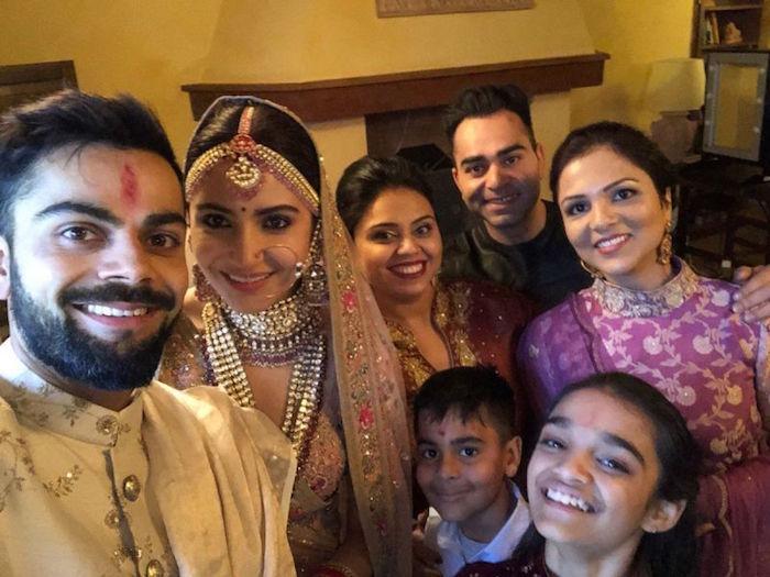 Virat Anushka with family