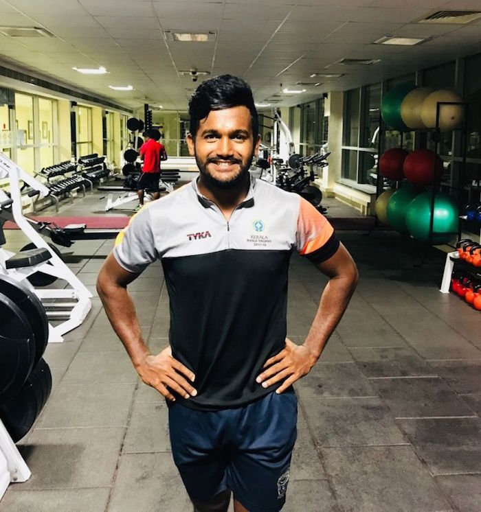 KM Asif in the gym