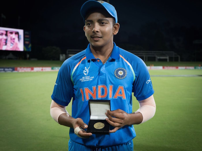 Prithvi Shaw player of the match