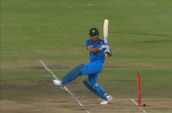 MS Dhoni boundary