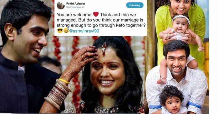 R Ashwin And His Wife This lovely Twitter co...