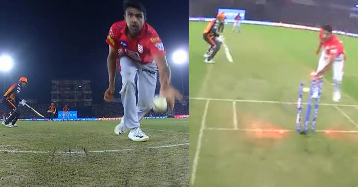 Ravichandran Ashwin run-out Mohammad Nabi