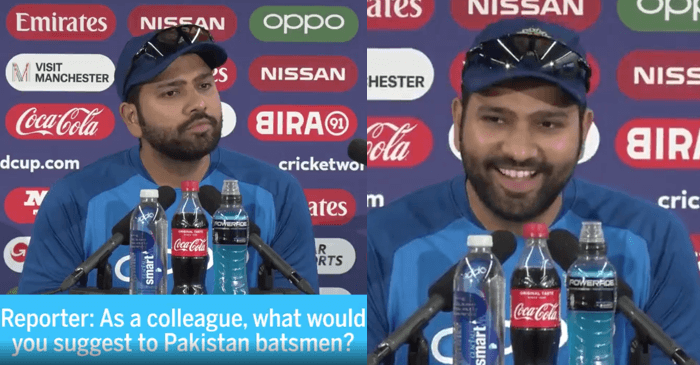 Rohit Sharma hilarious answer