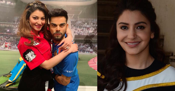 Urvashi Rautela, Virat Kohli, Anushka Sharma