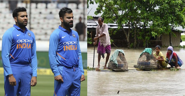 Cricketers pay tribute to Assam floods