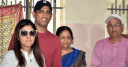 MS Dhoni with his family
