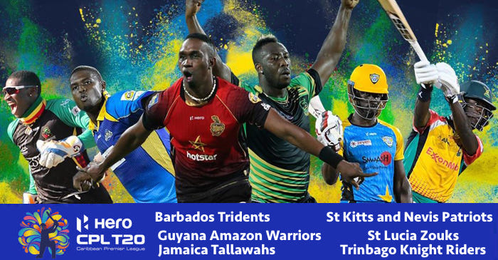 CPL T20 2019 Schedule, Broadcast details