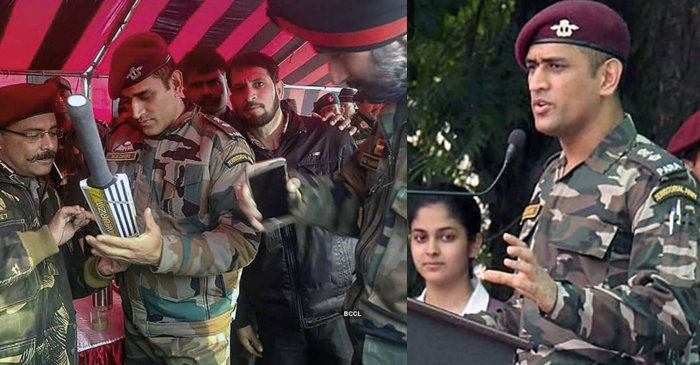 MS Dhoni in Kashmir