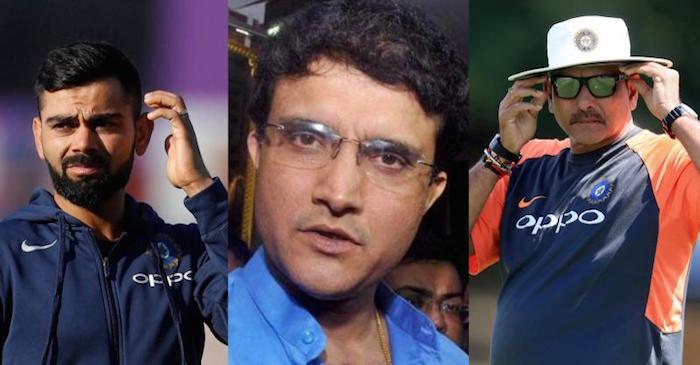 Virat Kohli, Sourav Ganguly, Ravi Shastri