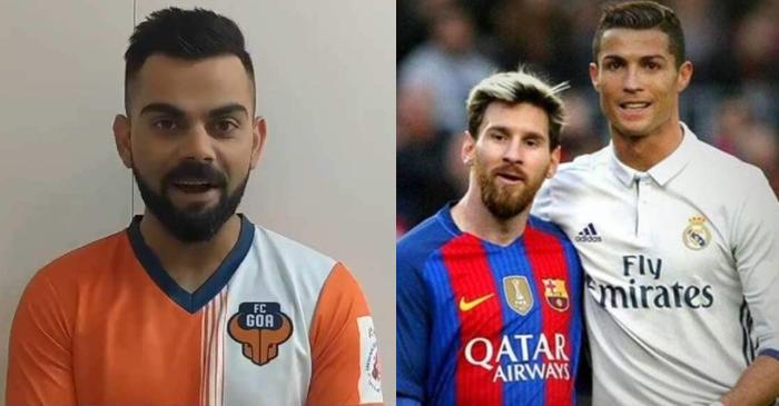 Virat Kohli, Lionel Messi, Christiano Ronaldo