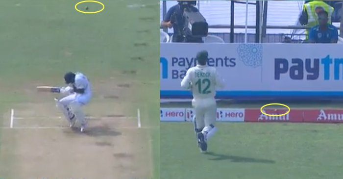 Ball hits Mayank Agarwal helmet and races to the boundary for four