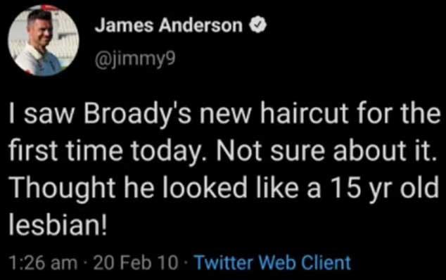 James Anderson old tweet