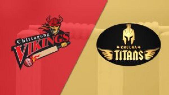 Match prediction of Khulna titans vs Chittagong vikings