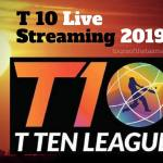T 10 Live Streaming 2019