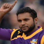 adi rashid ceelbrates a wicket for Yorkshire