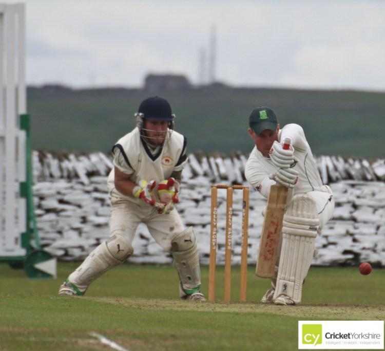 Blackley Cricket Club batsman forward defence