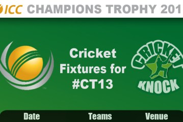 ICC Champions Trophy 2013 Fixtures