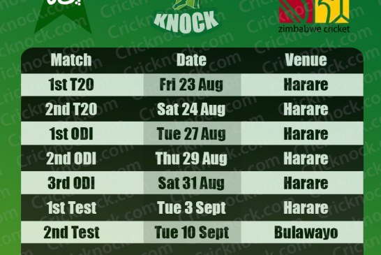 Pakistan vs Zimbabwe Fixtures 2013