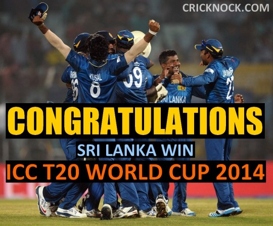 Sri Lanka win ICC T20 World Cup 2014