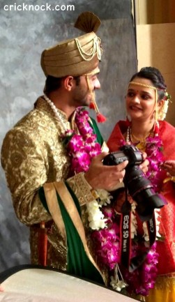 pictures of Ajinkya Rahane marriage with Radhika Dhopvkar