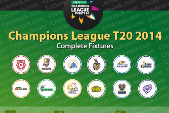 Champions League T20 – CLT20 2014 Fixtures