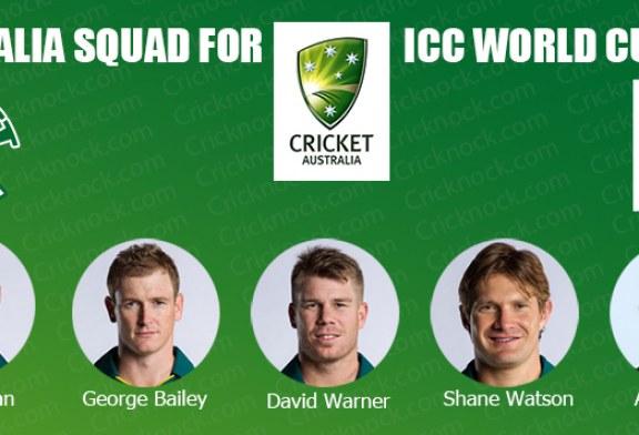 Australia Squad for ICC Cricket World Cup 2015