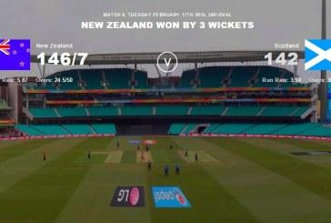 New Zealand vs Scotland Highlights – ICC Cricket World Cup 2015