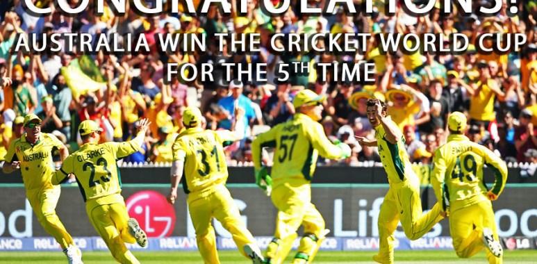 Australia win ICC Cricket World Cup 2015
