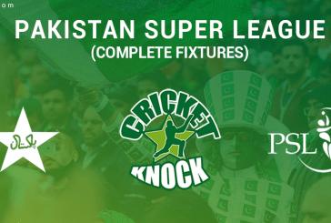PSL T20: Pakistan Super League Complete Fixtures
