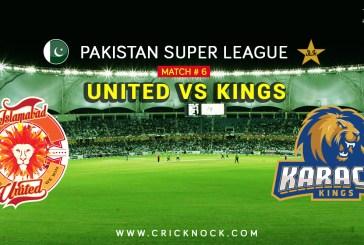 PSL T20 Match 6   Watch Islamabad United vs Karachi Kings Highlights